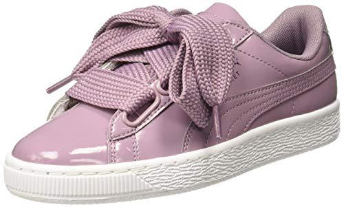Puma Basket Heart Patent Wn's, Damen Sneakers, Violett (Elderberry-Elderberry), 42.5 EU