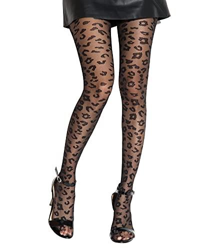 Gi&Gi Collant Fantasia in Leopardo Donna 40Den Extra Comfort Buon Quanlità Made in Italy N.1307 (S/M)