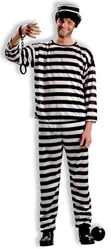 Forum Novelties Mens Adult Prisoner Adult Sized Costumes, Black/White, Standard US