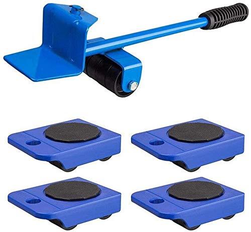 TXOZ-Q 360 ° Practical Mover Muebles Sistema de Herramienta for Heavy Muebles y Aparatos de elevación (1 elevación Rod y 4 Muebles Rodillos Que se mueven)