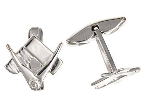 Ciseau de maçon pour//maçonnique francs-maçons Symbole Boutons de manchette – Argent Sterling 925 – Livré dans une boîte cadeau gratuit ou sac cadeau