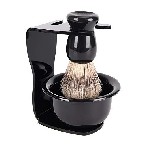Men's Razor Black Plastic Minneapolis Mall Soap Brush M Max 80% OFF Bowl Shaving