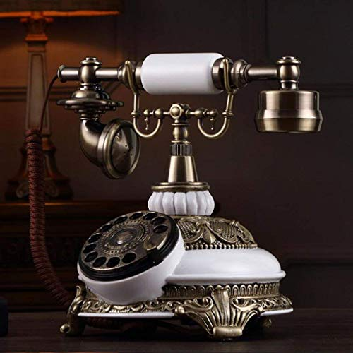 Dirgee Teléfono, Retro Turntable Turnato Antiguo Jardín Teléfono Teléfono con Cable Línea...