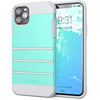 Crave iPhone 11 Pro Max Case Strong Guard Heavy-Duty Protection Series Case for Apple iPhone 11Pro Max  6.5 inch  - Mint/Grey