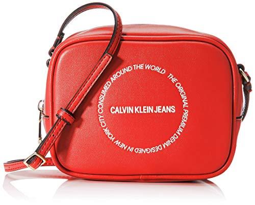 Calvin Klein Sculpted Camera Bag - Borse a tracolla Donna, Rosso...