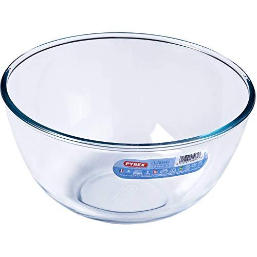 Pyrex 2 x Schüssel Glasschale Salatschüssel Borosilikat 3 l, Ø 24 cm