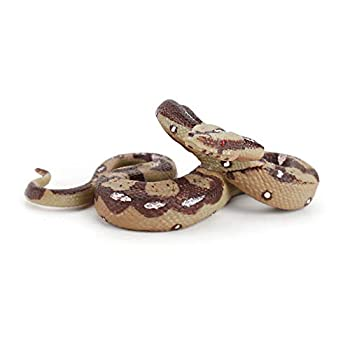 Fantarea Simulation Realistic Wild Life Python Snake Jungle Animal Action Figures Model Figurine Desktop Decoration Collection Party Supplies Cognitive Toys for Boys Girls Kid Toddlers