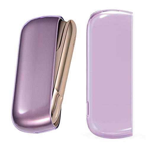 jbTec Funda protectora para IQOS 3.0   Duo, funda de accesorios para cigarrillo electrónico, funda protectora de TPU transparente, color: lila
