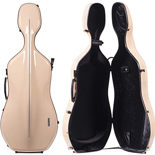 Gewa 341.250 Air 3.9 Beige 4/4 Cello Case with Black interior