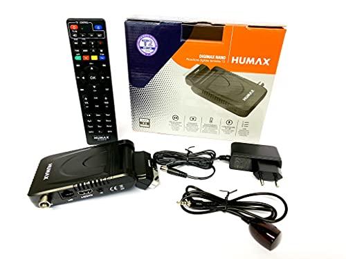 Humax - Decoder digitale terrestre DVB-T2 HD-2023T2 Digimax Nano con telecomando 2 in 1 per controllare il TV