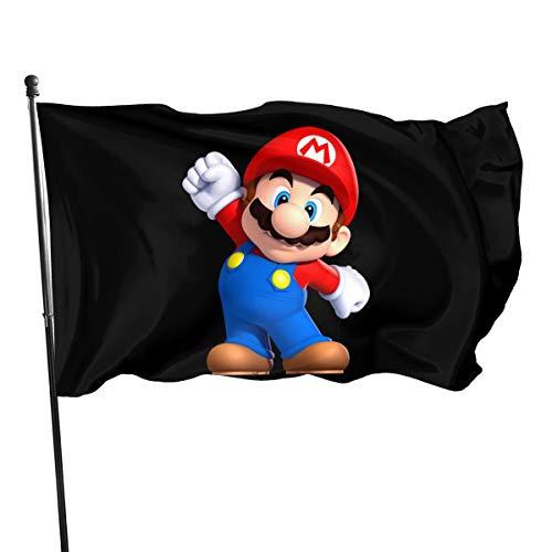 N / A Mario Fahnen Flagge Flag Banner Polyester Material Gartenbalkon Gartendekoration Im Freien 90x150cm