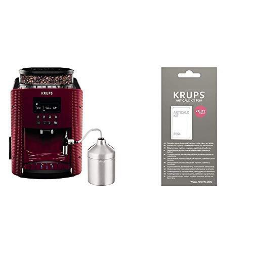 Krups Compact Cappucino EA816570 - Cafetera Superautomática 15 Bares, Pantalla LCD, 3 Niveles Intensidad de 20 ml a 220 ml + F0540010 Kit descalcificación, Plastic