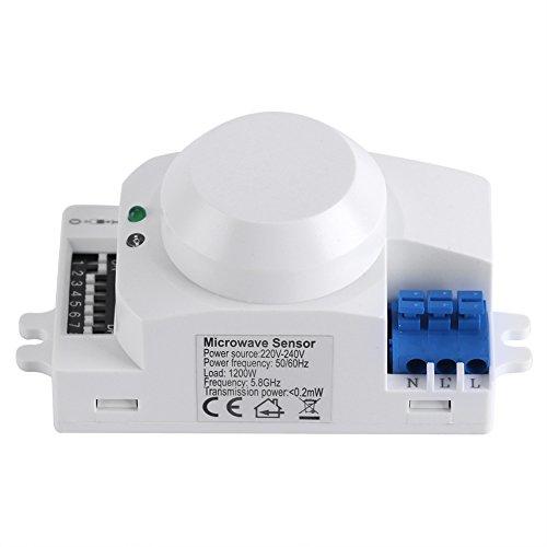 Interruptor de luz inteligente del sensor del radar del detector de movimiento de la microonda de 360 grados(220V-240V SK-600)