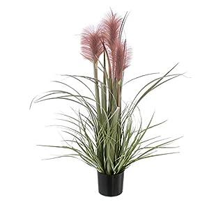 khevga – Planta Artificial para decoración (80 cm de Alto, con 3 Flores de Mauve)