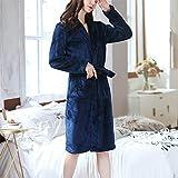 XYZMDJ Camisón de Franela para Mujer, camisón de Manga Larga, Agradable para la Piel, Albornoz, Pijamas cálidos y cómodos (Color : A, Size : One Size)