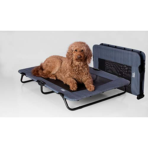 "Pet Gear Lifestyle Pet Cot Elevated Bed | No Assembly Required | Premium Tear Resistant Cooling Mesh | Indoor & Outdoor | Lightweight & Portable, 40"", Lake Blue (PG6240LBA)"