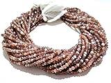 Mughal Gems & Jewellery - Piedra de Luna de Chocolate Natural facetada (3,5-4 mm, 13')