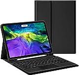 Caja del Teclado del Touchpad del iPad Pro 11 Pulgadas - Touchpad Round Hat Keyboard Bluetooth Slim Folio Folio CUBIERTE DE CUERA DE Cuero para 2020 iPad Pro 11,Black
