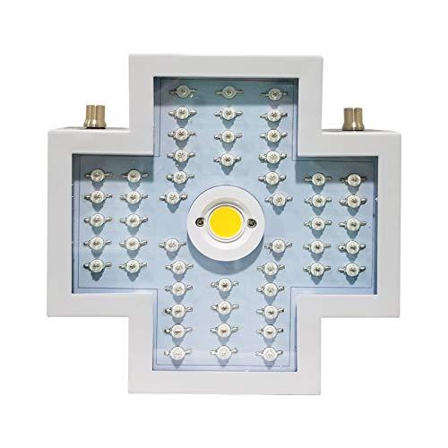 DZHTSWD 1200W LED-Anlage wachsen Licht, justierbare Full Spectrum Doppelschalter Betriebslicht Wärmeableitungssystem, for Zimmerpflanzen Veg Blume, Kreuz, weiß
