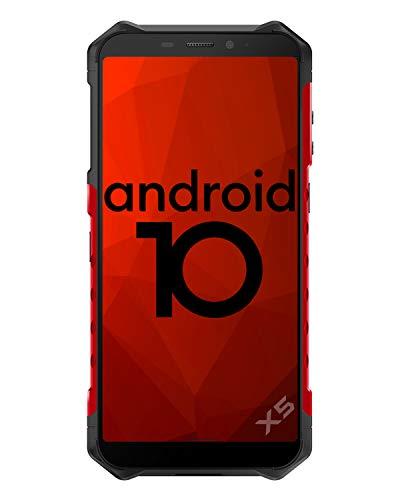 4G Outdoor Handy ohne Vertrag Ulefone Armor X5 (2020) 5,5 Zoll Octa-Core 3GB + 32GB Android 10 Smartphone 5000mAh IP68/IP69K Wasserdicht Stoßfest Staubdicht, Dual SIM 4G-Netzwerk GPS NFC OTG-Rot