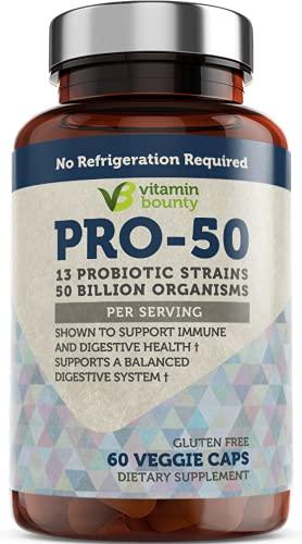 Vitamin Bounty - Pro 50 Probiotic - 13 Probiotic Strains, 50 Billion Organisms Per Serving (1 Pack)