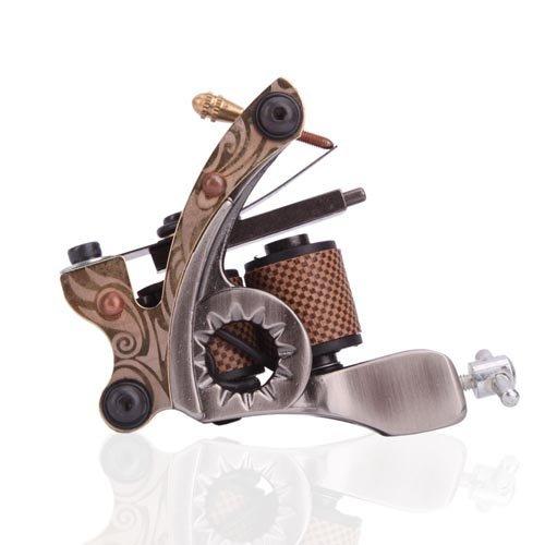 1TattooWorld New Cast 10 Laps Coils Tattoo Machine Liner Shader Tattoo Gun, OTW-M703