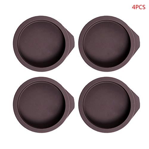 CarryKT 4 stuks siliconen ronde vorm taart bakplaat pan non-stick decoreren tool DIY accessoires 4/6 inch