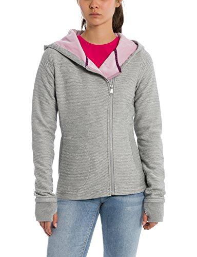 Bench Short Bonded Jacket Kuschlige Jacke mit Fleece Innenmaterial, Kapuze, Lange Ärmel, Bündchen mit Daumenlöcher Grau (Grey-Marl), EU s