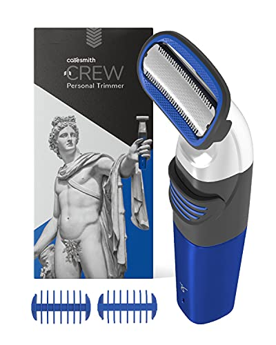 Caresmith CREW Body Trimmer Men | Designed for Private Part Hair Removal | With Microfin Guard | Rechargeable | Body Groomer for Men | Rounded Edges For Maximum Safety