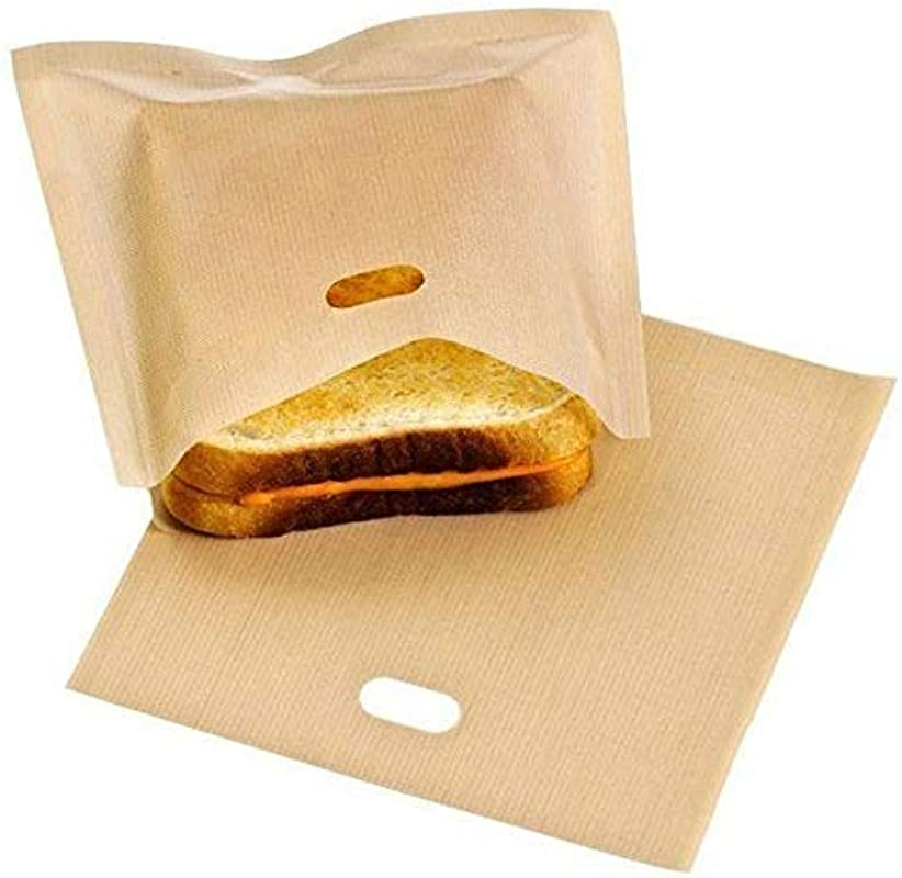 Purra145 Sandwich Toaster Bags Home Supplies Cheese Sandwiches Non Stick Baked Toast Baking Tools Reusable Bread Bags For Grilled Toaster Bags Made Easy 1Pc