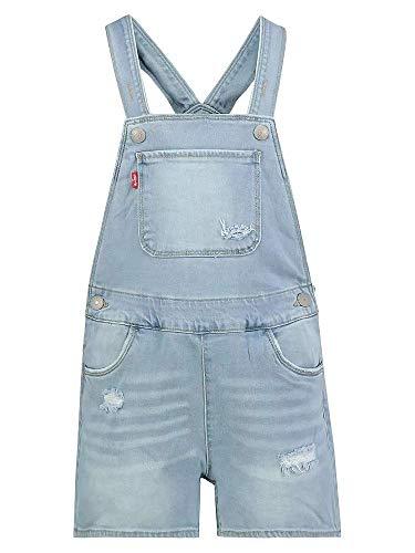 Levi´s Mädchen Jeans Latzhose Neon Cap Shortall Glow Up hellblau (164)