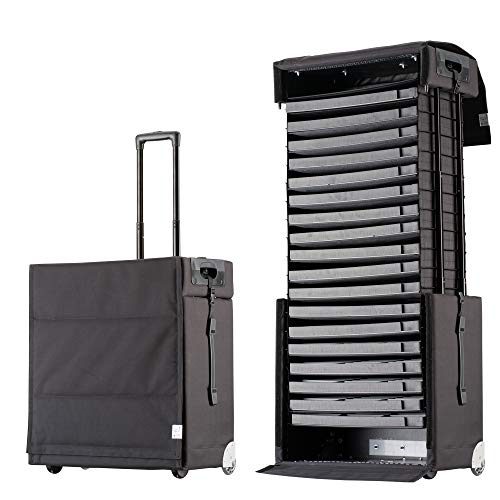 Pull Up Samplecase 62L Avantgarde - Representation Case / Pattern Case / Presentation Case for up to 270 Glasses - Extendable Case with Patented Pull Up Technology