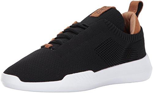 K-Swiss Men's GEN-K ICON Knit Sneaker, Black/Brown, 12 M US