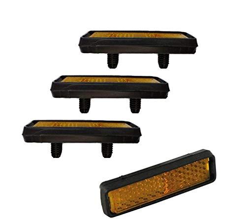 Point W01140202 Fahrradpedal Reflektoren Pedalrückstrahler zum Stecken (1 x 4 Stück)