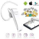 JINLO Voz En Tiempo Real Auriculares Traductores Bluetooth Wireless 3 En 1 Alta Fidelidad Estéreo 25...