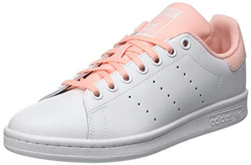 adidas Stan Smith J, Scarpe da Ginnastica, Ftwr White/Haze Coral/Haze Coral, 38 2/3 EU