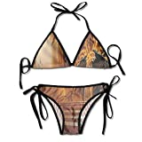 Bikini Trajes de baño Trono de ficción Oscura con Emblema heráldico en el Fondo Conjuntos de Bikini goithic Traje de baño de Playa Traje de baño