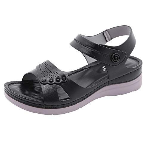 A2A Sandals for Women Summer Hollow Out Hook Loop Platform Wedges Beach...