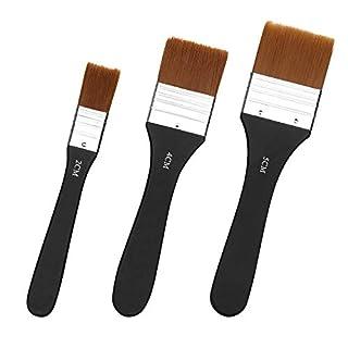 scheda gobesty set di pennelli di grandi dimensioni, pennello acrilico piatto professionale in setola in nylon strumenti di riparazione della casa per artisti olio pittura a guazzo ad acquerello(20/40/50mm)