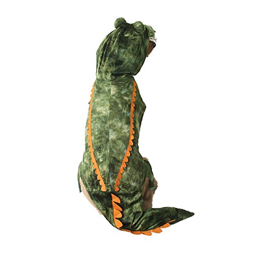 MUYAOPET Halloween Crocodile Dog Costume Small Large Dog Clothes Dog Party Dress (XXL, Green)