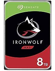 Seagate IronWolf, 8TB, NAS, Unidad de disco duro interna, HDD, 3,5 in, SATA 6 Gb/s, 7200 r.p.m., caché de 256 MB para almacenamiento conectado a red RAID (ST8000VN004)