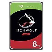 Seagate IronWolf 8 To, Disque dur interne NAS HDD – 3,5 pouces SATA 6 Gbit/s 7 200 tr/min, 256 Mo de mémoire cache, pour NAS RAID (ST8000VN004)