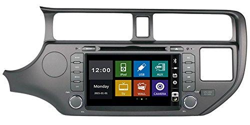20,3cm In-Dash lettore DVD con BT/TV, supporto telecamera posteriore, Steering Wheel Control, Touch Screen, USB/SD, AUX audio radio stereo, auto multimediali autoradio per KIA Rio K3/2011~ 2012