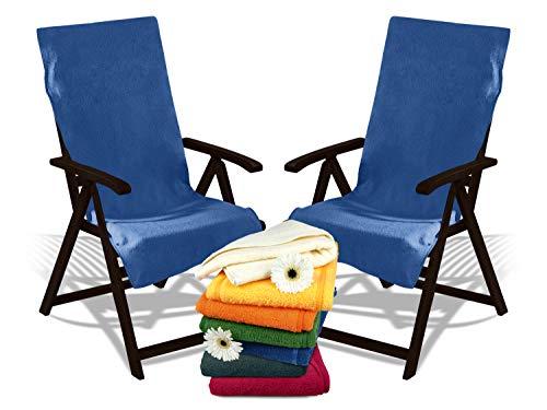 Dyckhoff Doppelpack Schonbezüge mit Kapuze - für Gartenstuhl oder Gartenliege 277.1716, Gartenstuhl, blau