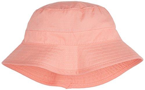 Melton Baby-Mädchen Sonnenhut mit schmaler Krempe UV 30+, Uni Kappe, Rosa (Salmon Rose 616), 49
