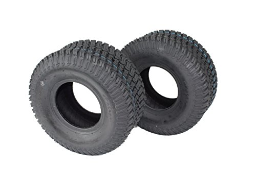Price comparison product image Antego Tire 15x6.00-6 4 PLY Turf Tires for Lawn & Garden (Set of Two) ATW-003