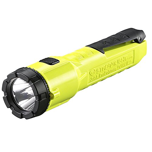 "Streamlight 68750 Dualie 3AA 140-Lumen Dual Function Intrinsically Safe AA Battery Flashlight, Yellow – With 3 ""AA"" Alkaline Batteries"