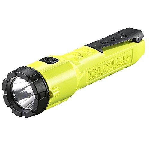Streamlight 68750 Dualie 3AA 140-Lumen Dual Function Intrinsically Safe AA Battery Flashlight, Yellow – With 3 'AA' Alkaline Batteries