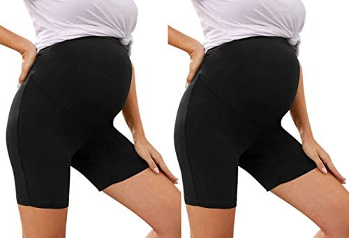 Maternity Shorts Maternity Leggings Over The Belly Stretch Maternity Clothes One Size Fits All product image