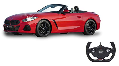 Jamara 405175 BMW Z4 Roadster 1:14 rot 2,4GHz Tür manuell-offiziell lizenziert, bis 1 Std Fahrzeit, ca. 11 Kmh, perfekt nachgebildete Details, detaillierter Innenraum, LED Licht